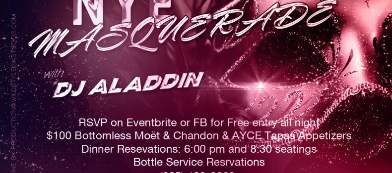 New Years Eve 2018 w/ DJ Aladdin @ Skybar Lounge
